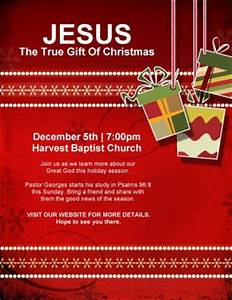 Christmas Gift Church Flyer Template