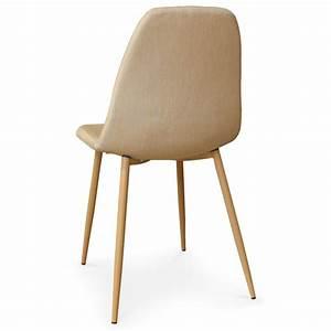 Chaise Scandinave Beige : chaises scandinaves karl tissu beige lot de 4 pas cher scandinave deco ~ Teatrodelosmanantiales.com Idées de Décoration