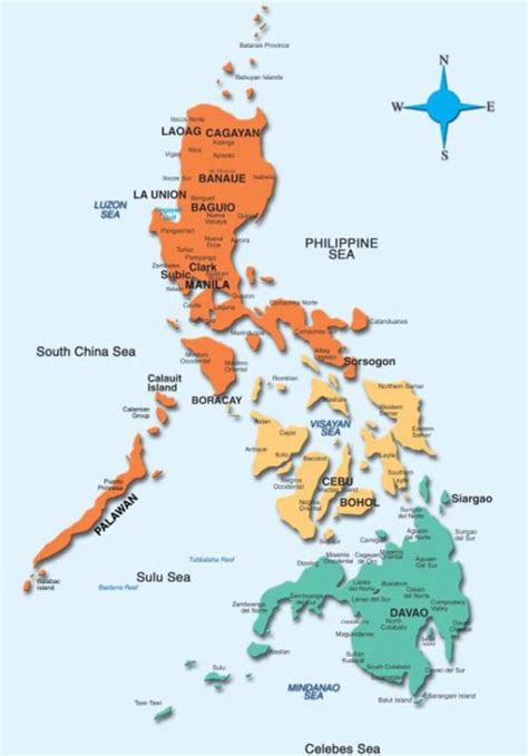 philippine map map   philippines