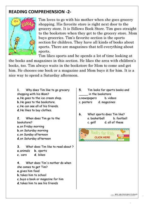 Reading Comprehension For Esl Students Elementary  20 Websites For Free Reading Comprehension