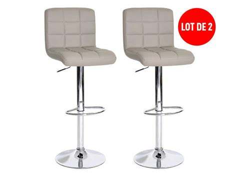 siege de bar lot de 2 tabourets de bar réglable assise rotative nala
