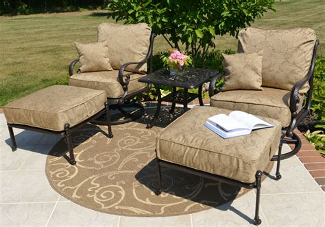 amalia 2 person luxury cast aluminum patio furniture chat