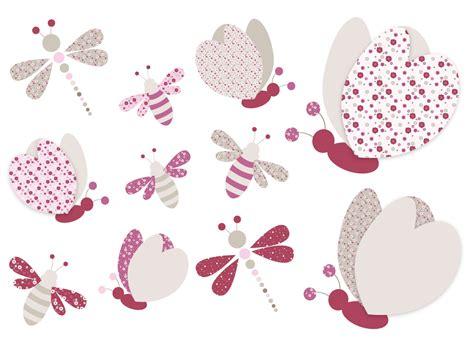 chambre et turquoise sticker bébé paillons abeilles et libellules