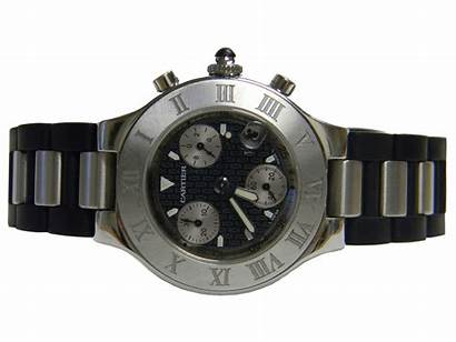 Cartier Chronograph Rubber Strap Stainless Steel Chainimage