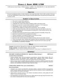 Social Work Resume Exles 2015 by Exle Resume Exle Resume Social Work