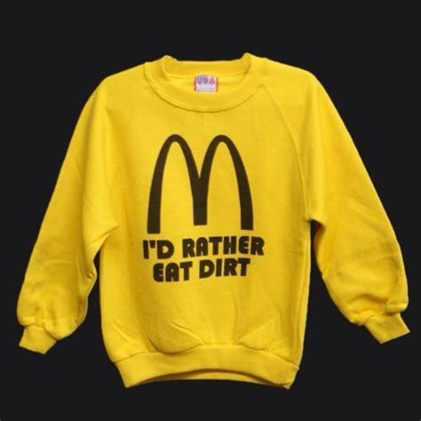 mcdonalds sweater sweater sweatshirt shirt yellow mcdonalds wheretoget