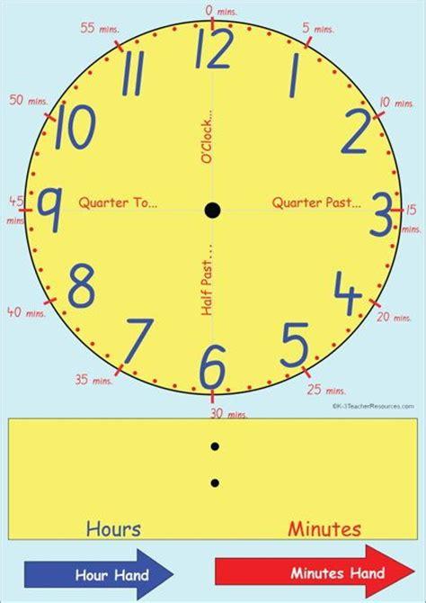 clock face template clock template teaching time clock