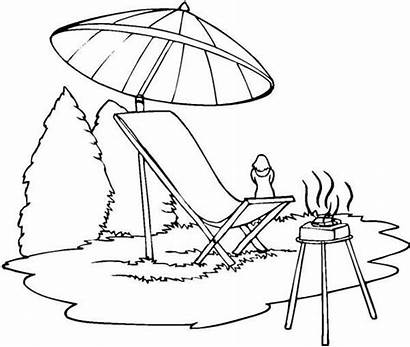 Coloring Summer Camp Barbeque Pages Drawing Getdrawings