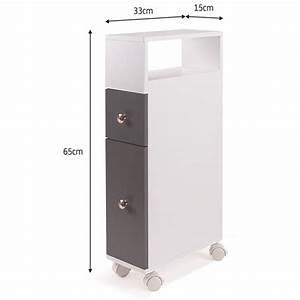Meuble De Rangement Wc : meuble rangement wc sur roulettes 2 tiroirs gris meubles et am nag ~ Teatrodelosmanantiales.com Idées de Décoration