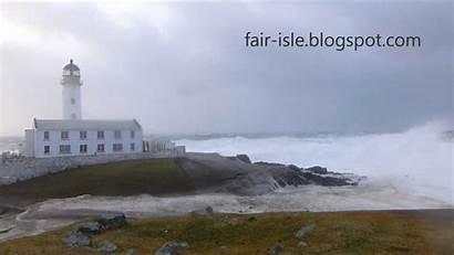 Lighthouse Fair Isle Waves Shetland South Biggest