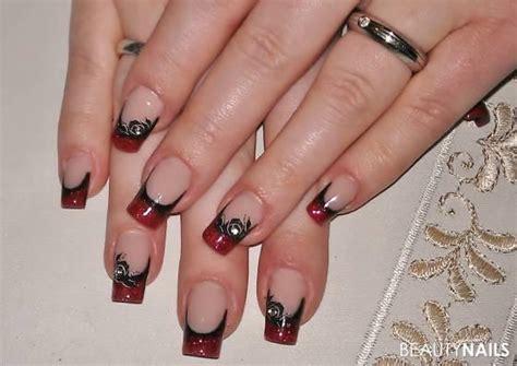french schwarz rot gelnaegel