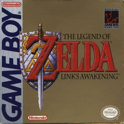 The Legend Of Zelda Links Awakening 1993 Game Boy Box