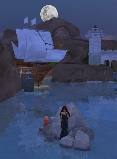 mod  sims mermaid loved castle  sizes