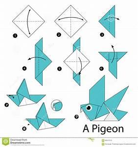 Comment Faire Un Oiseau En Papier : instructions tape par tape comment faire origami un oiseau illustration de vecteur ~ Melissatoandfro.com Idées de Décoration