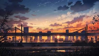 Anime Fi Lo Sunset Scenery Wallpapers Desktop