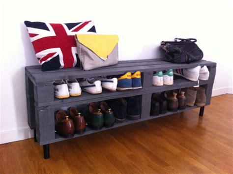chambre palette meuble chaussures fabriqué à partir de palettes en bois