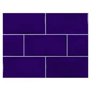 what size subway tile for kitchen backsplash vermeere ceramic tile dk royal blue gloss 3 quot x 6 quot subway tile
