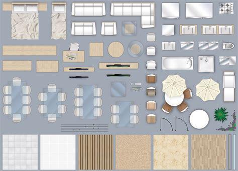model  furniture floorplan top  view style