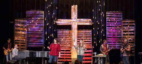 rugged cross church stage design ideas