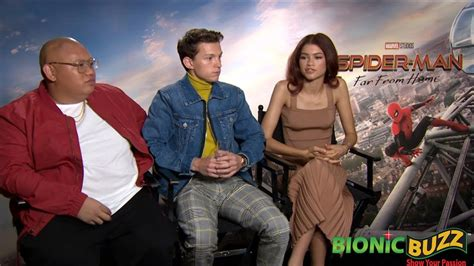 spider man   home cast interviews youtube