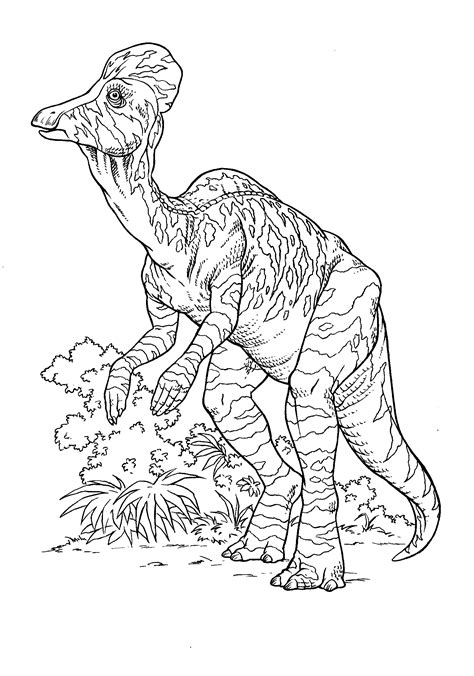 coloring page corythosaurus