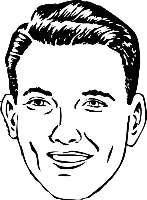 normal person type  face coloring page color people