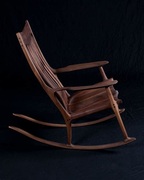 Maloof Rocking Chair Seat by Pat Beurskens Woodworking Portfolio Sam Maloof Style