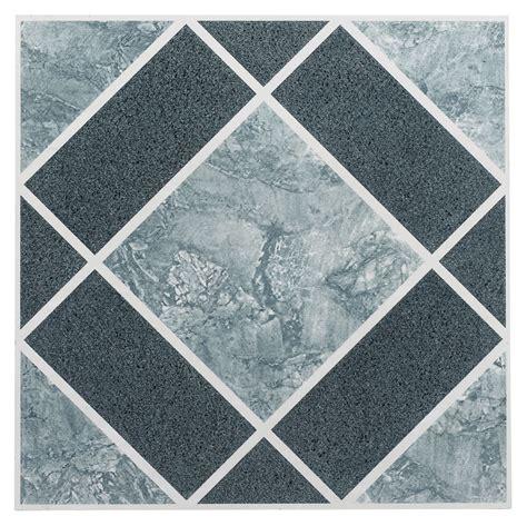 Pack Vinyl Floor Tiles  Adhesive Peel Stick Blue