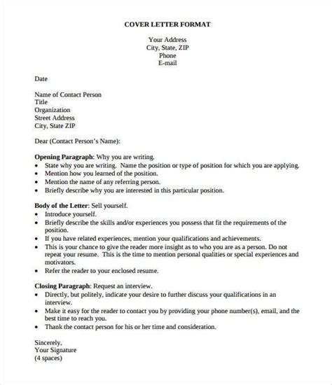 Simple Resume Cover Letter by Simple Cover Letter Template 36 Free Sle Exle Format Free Premium Templates