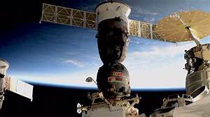 Crew Inside Soyuz and Hatches Closed   Space Station