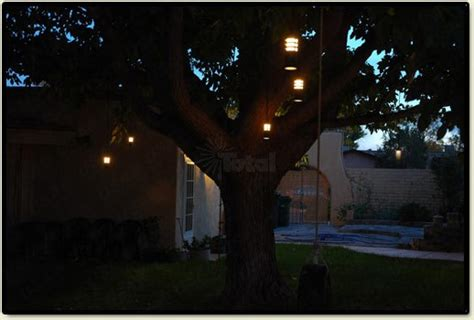 landscape lighting outdoor low voltage flower hanging tree