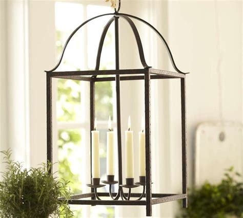 blacksmith taper lantern pottery barn traditional