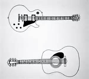 Electric Guitar Sketches Drawing