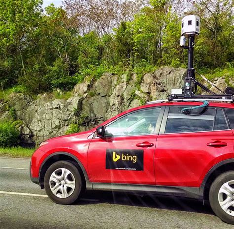 A Red Bing Street View Car Spotted