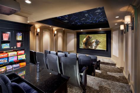 constellation theater transitional home theater new york by electronics design group inc