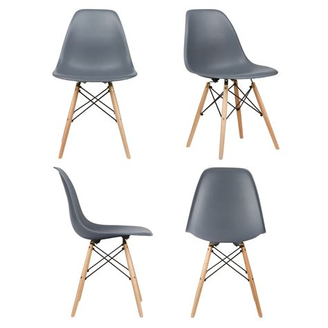 beech kitchen cabinets set of 2 eames style dsw gray plastic dining shell chair 1563