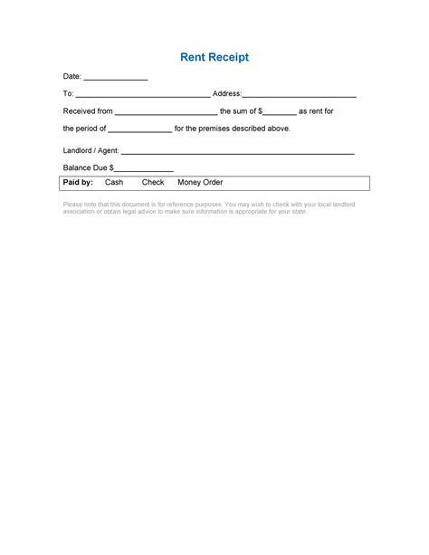 49 Printable Rent Receipts (Free Templates) ᐅ TemplateLab