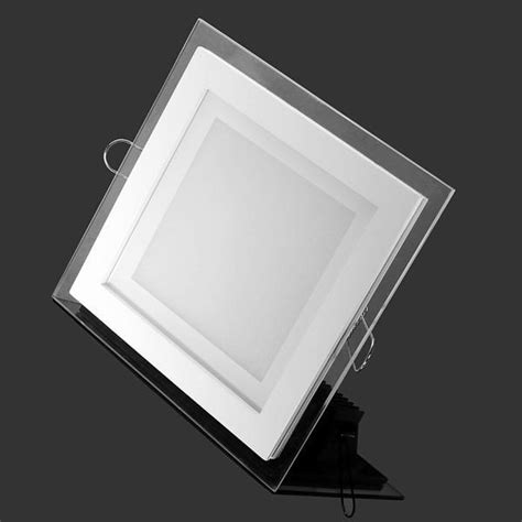 modern design with glass 6w 12w 18w led ceiling recessed