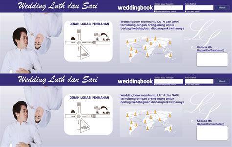 weddingbook undangan perkawinan  bentuk facebook