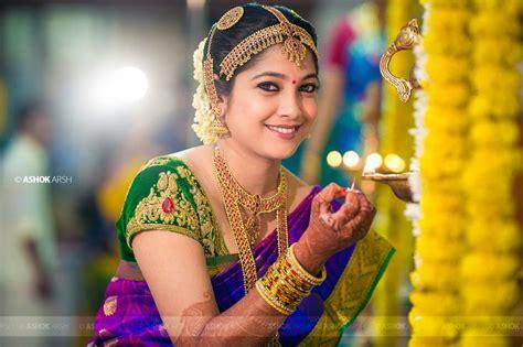 South Indian Bride. Hindu Bride. Kanchipuram Silk Sari