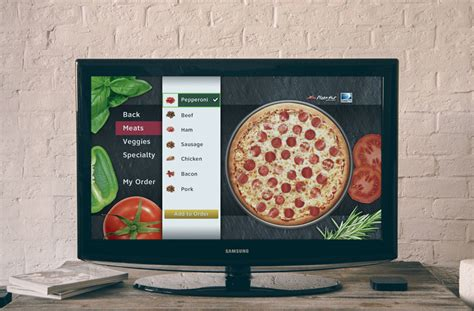 cuisine tv menut hd pizza app for tv concept ali guerin