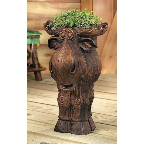 moose lawn ornament i need a moose planter orientaltrading i d get a small one for the office garden