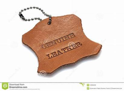 Leather Genuine Label Skin Piece Burned Printed