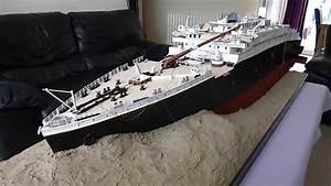 Titanic 1912 Wreck 1100 Scale Model By Jason King Youtube