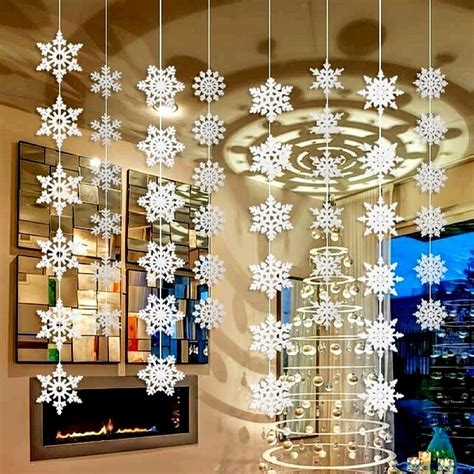 cheap snowflake lights decorations menards aliexpress buy wholesale 50packs silver snowflake wall hanging decoration for