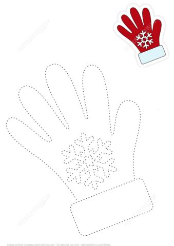 trace lines  red gloves  color  picture  printable puzzle games