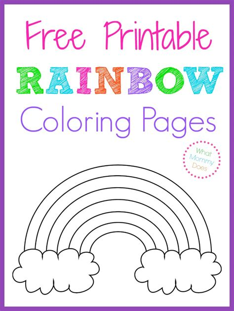 Free Printable Rainbow Coloring Pages For Free Printable Rainbow Coloring Pages What Does
