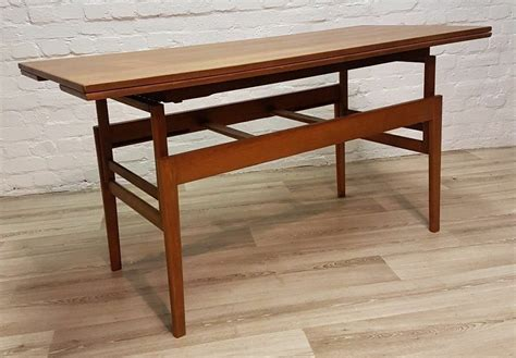danish teak trioh metamorphic coffeedining table