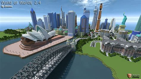 World of Worlds 2.4 – Minecraft Building Inc