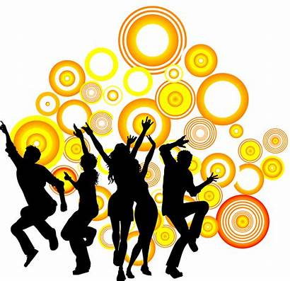 Dance Party Silhouette Clipart Royalty Circle Dancing
